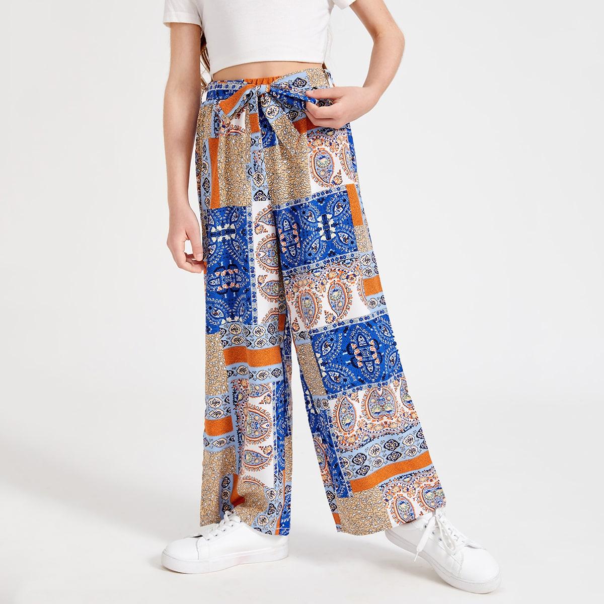 Pantalones de niñas Cinta retazo Bohemio