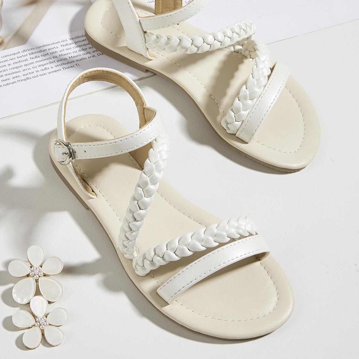Плетеные сандалии для девочек SheIn sk2106292188824870