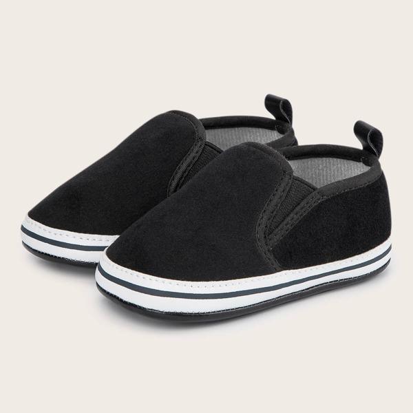 Baby Minimalist Slip On Flats, Black