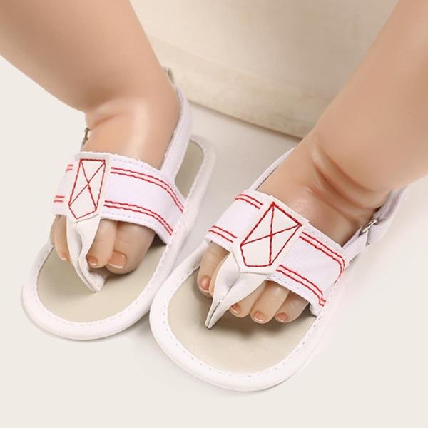 Baby Minimalist Slingback Sandals, White