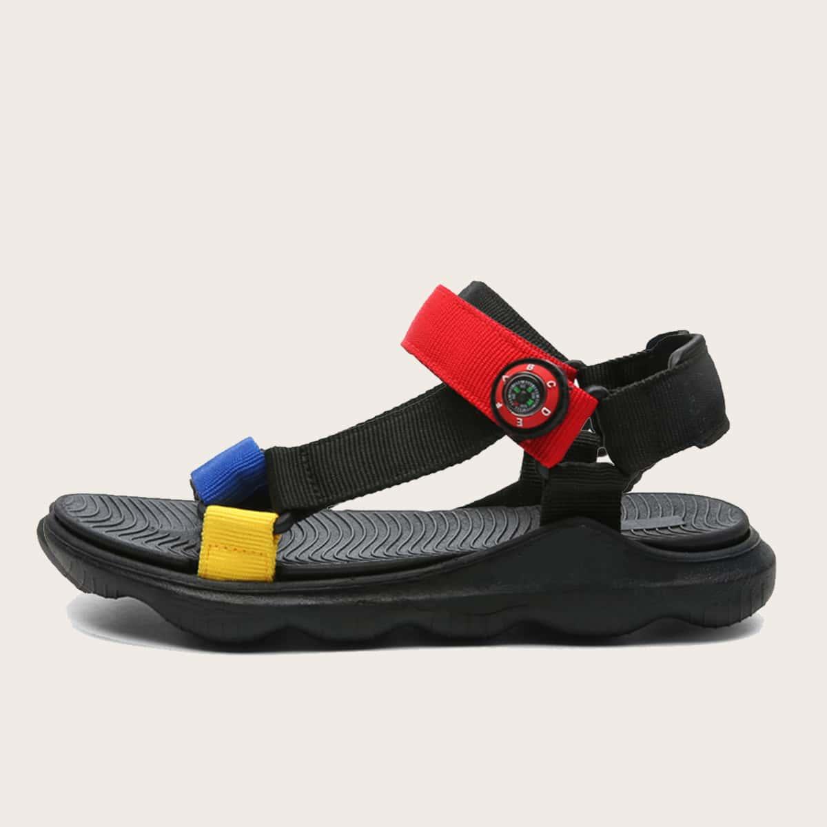 Контрастные сандалии для мальчиков SheIn sk2106307177768066