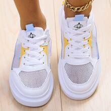 Lace-up Front Mesh Shoes