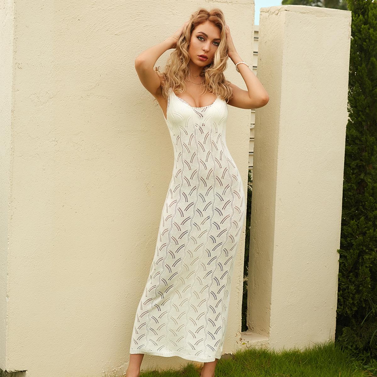 Вязаное платье-свитер SheIn sw2106237471089720