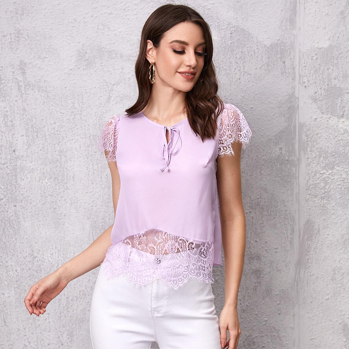 Блуза с кружевом SheIn swblouse44210610609