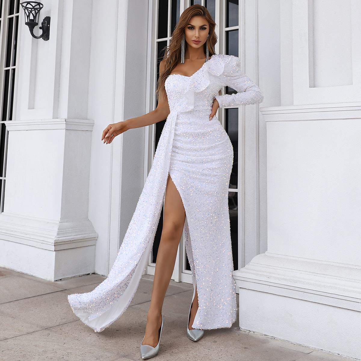 Платье на одно плечо SheIn sw2107010267748467