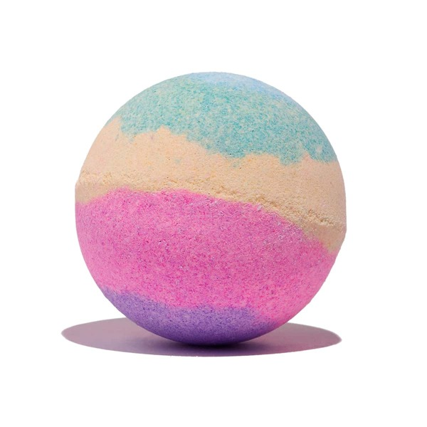 Wild Bluebell-Scented Fizzy Rotating Bath Bomb-120g, Multicolor