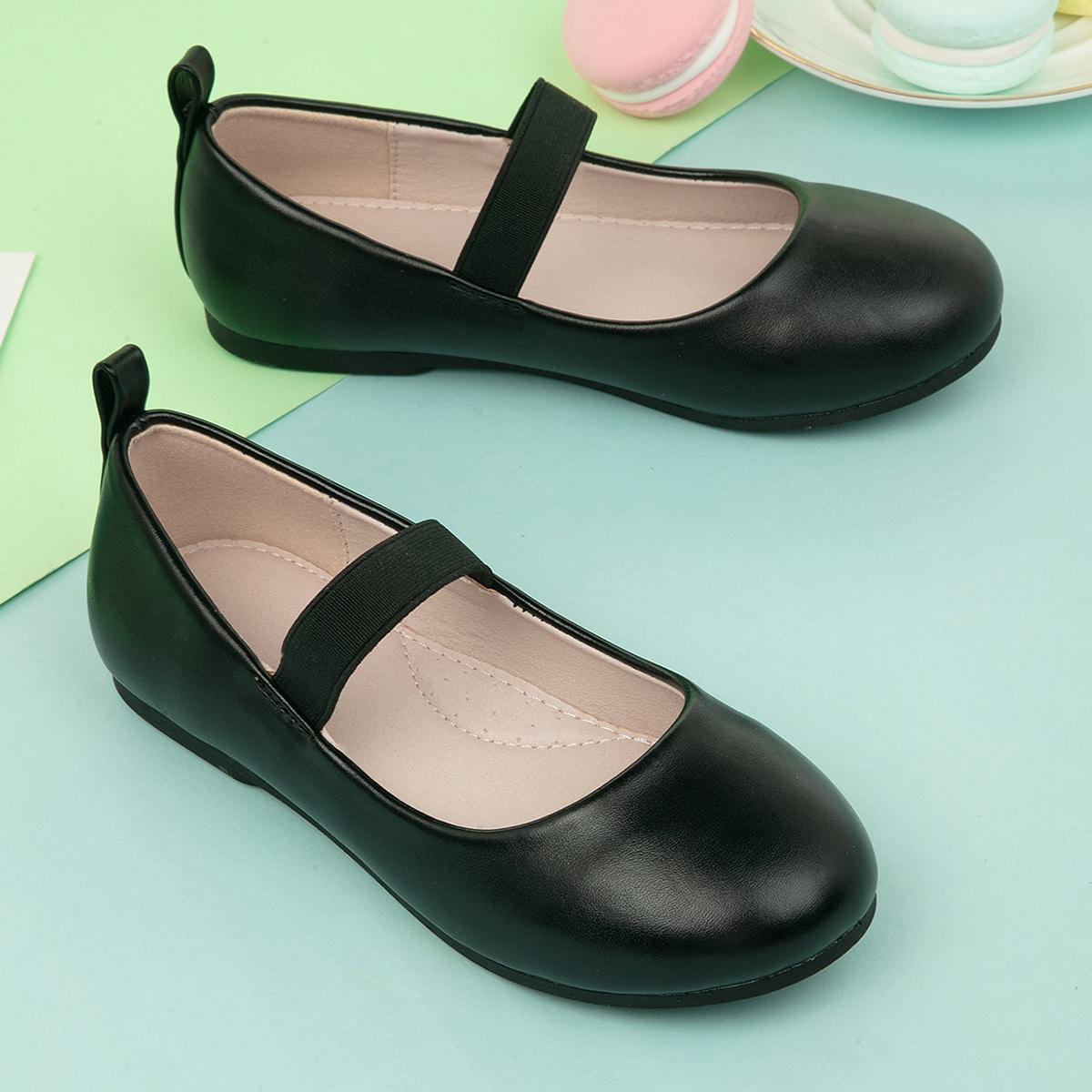 Минималистичные туфли мэри джейн для девочек от SHEIN