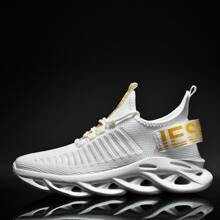 Guys Letter Graphic Lace Up Front Sneakers