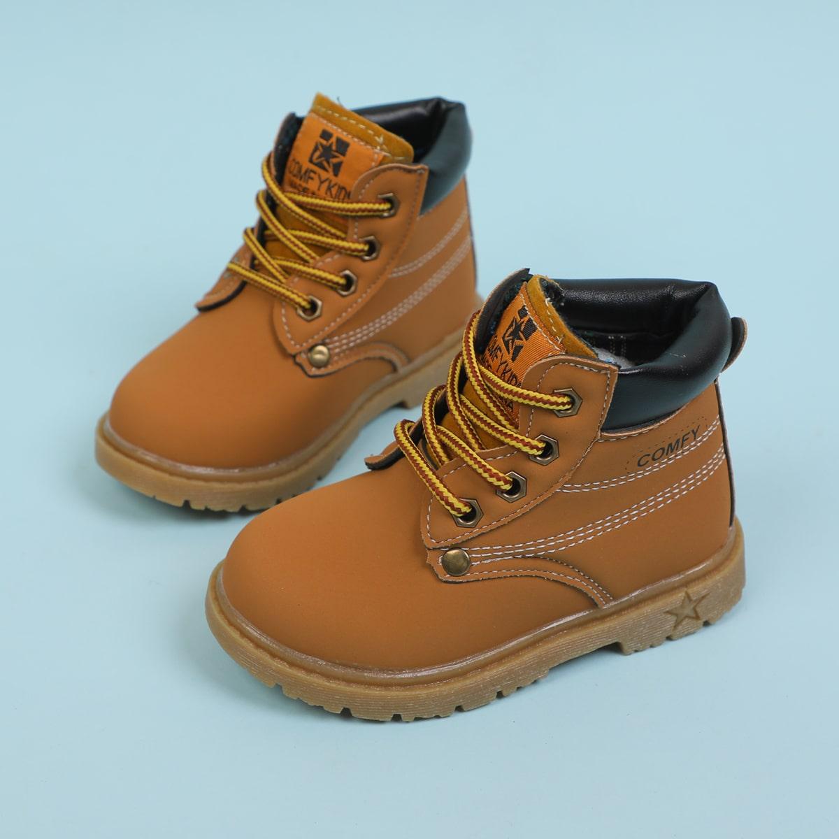 Ботинки со шнурком для девочек SheIn sk2107051175667662