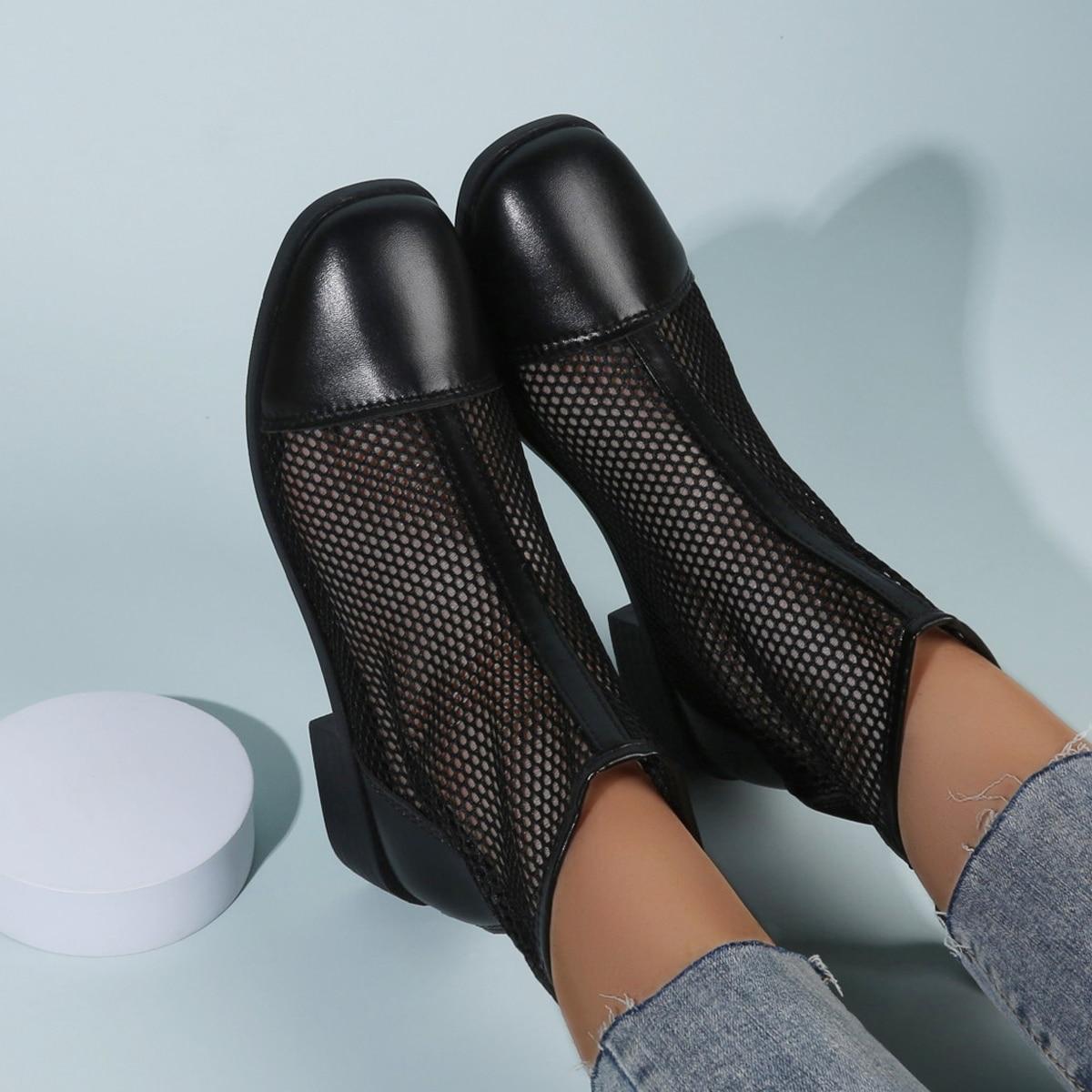 Ботинки минималистичный сетчатая вставка