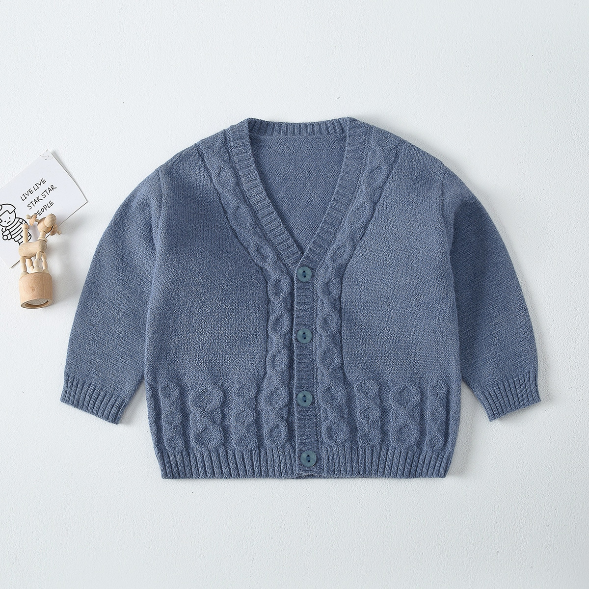 Toddler Girls Cable Knit Cardigan, SHEIN  - buy with discount