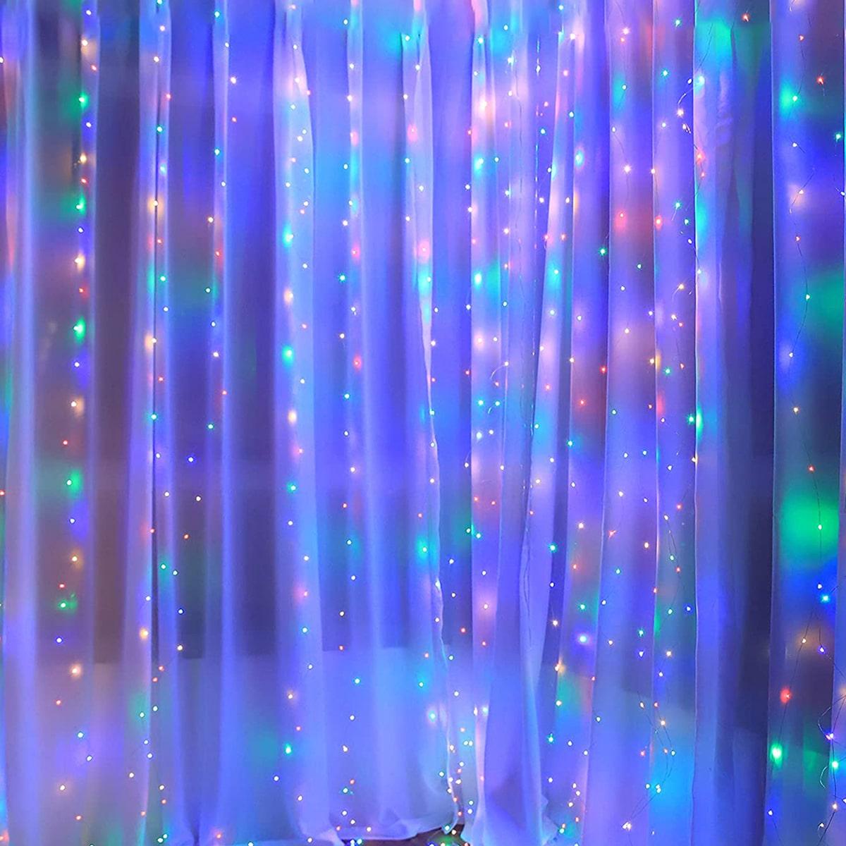 2m Шторы декоративный Лампочная гирлянда