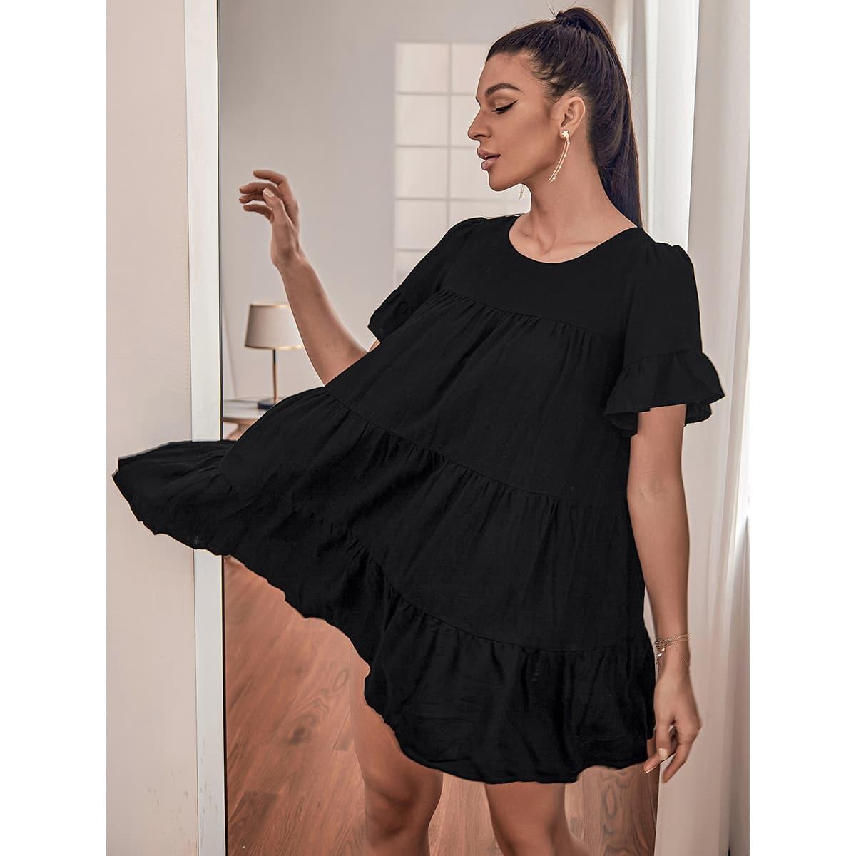 Платье с рукавами-воланами SheIn sw2107037339993102