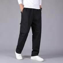 Guys Solid Slant Pocket Pants