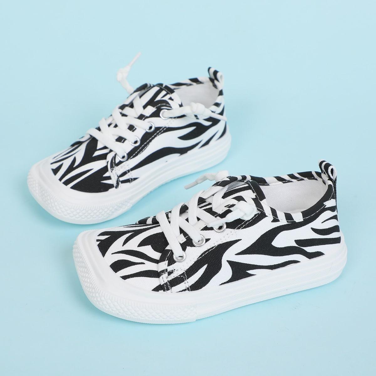 Холщовые туфли в полоску зебры для мальчиков от SHEIN