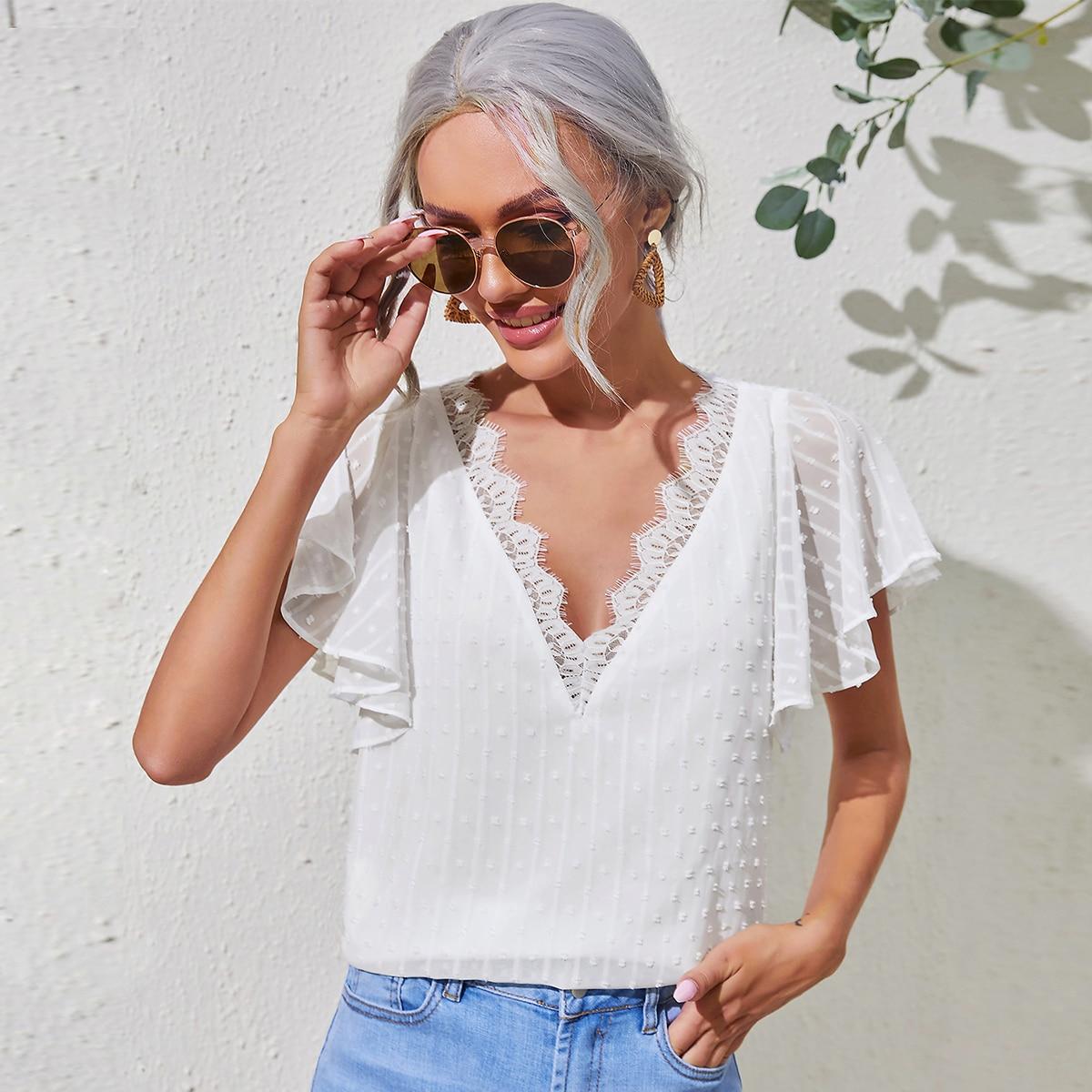 Блуза с кружевом SheIn swblouse07210529199