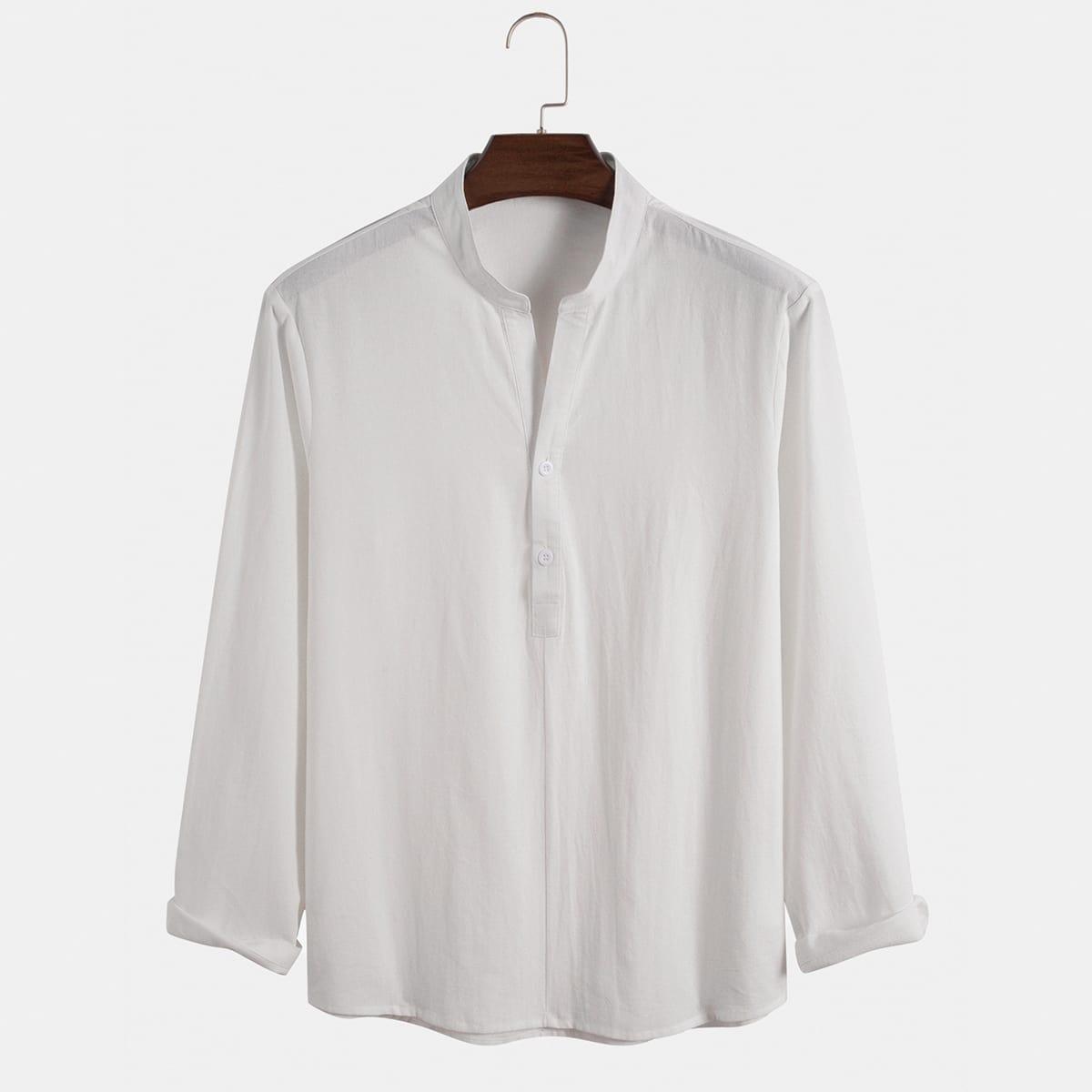 Мужская рубашка на пуговицах