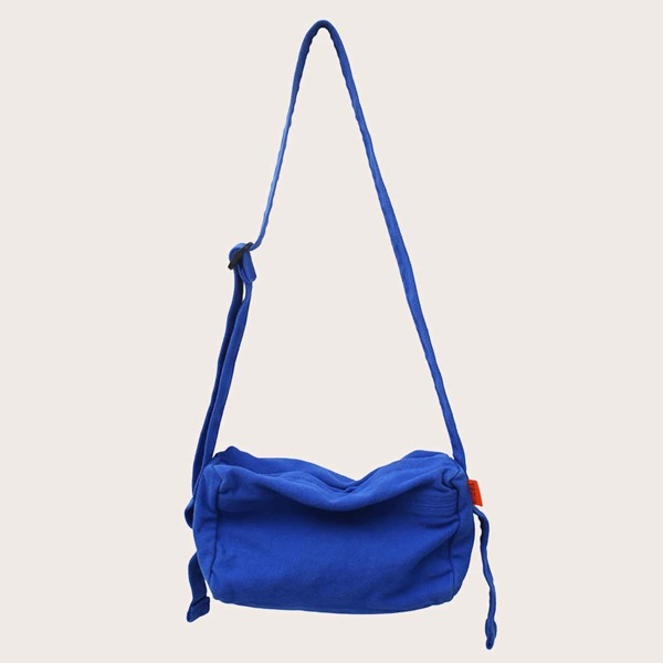Minimalist Canvas Crossbody Bag, Blue