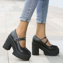 Solid Chunky Pumps