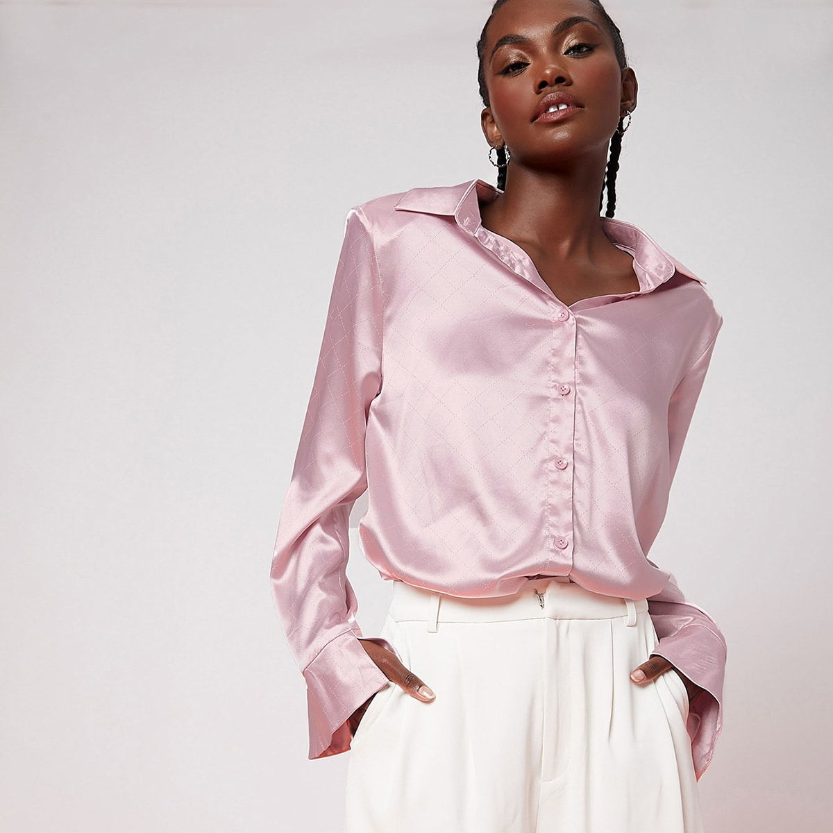 Оригинальная блуза-туника SheIn swblouse07210505858