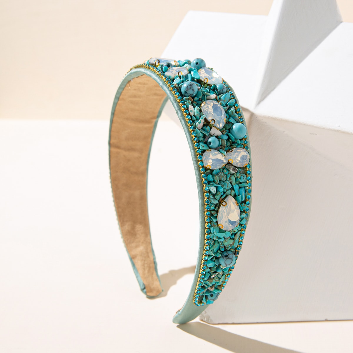 Turquoise Decor Headband, SHEIN  - buy with discount