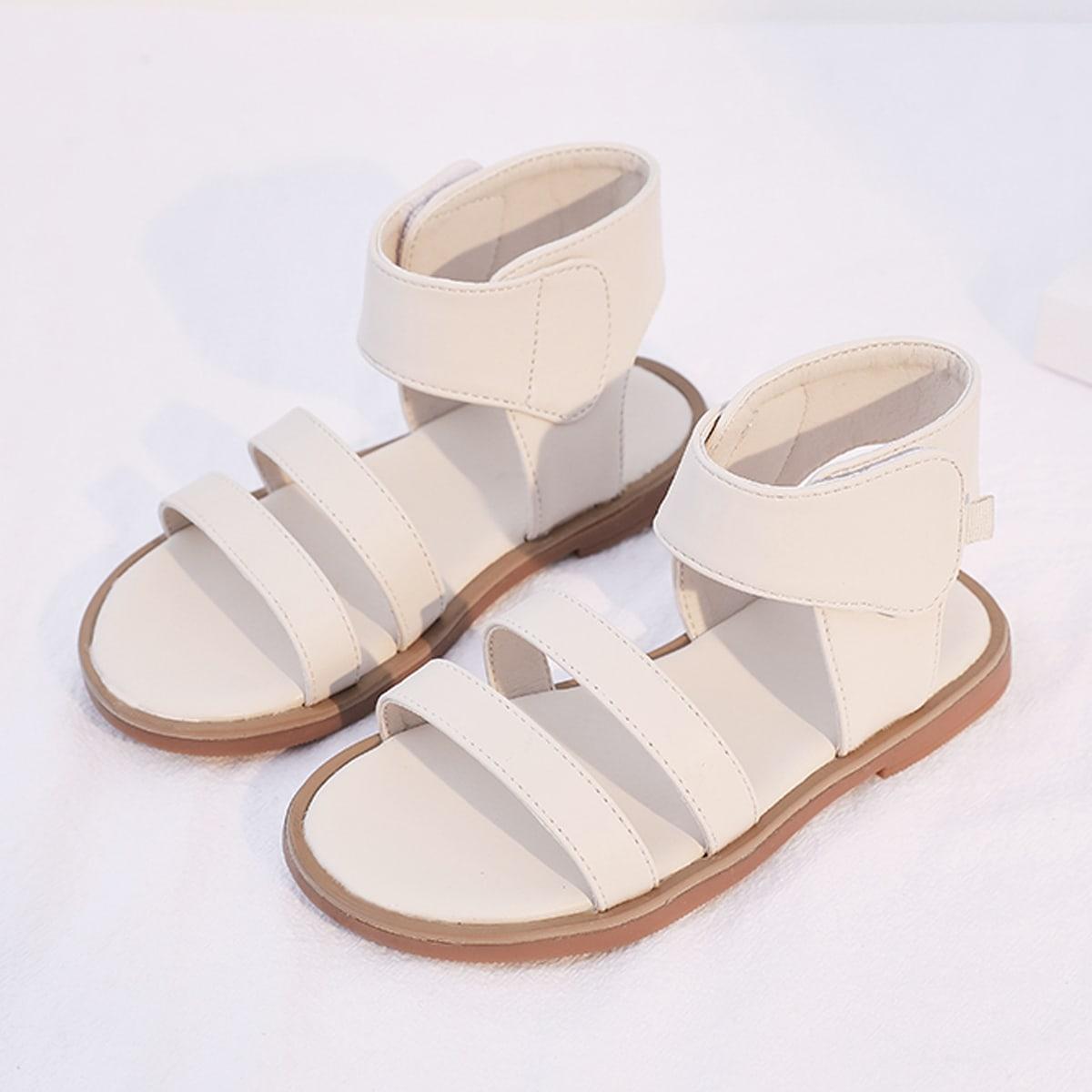 Минималистичные сандалии-шлепанцы для девочек от SHEIN