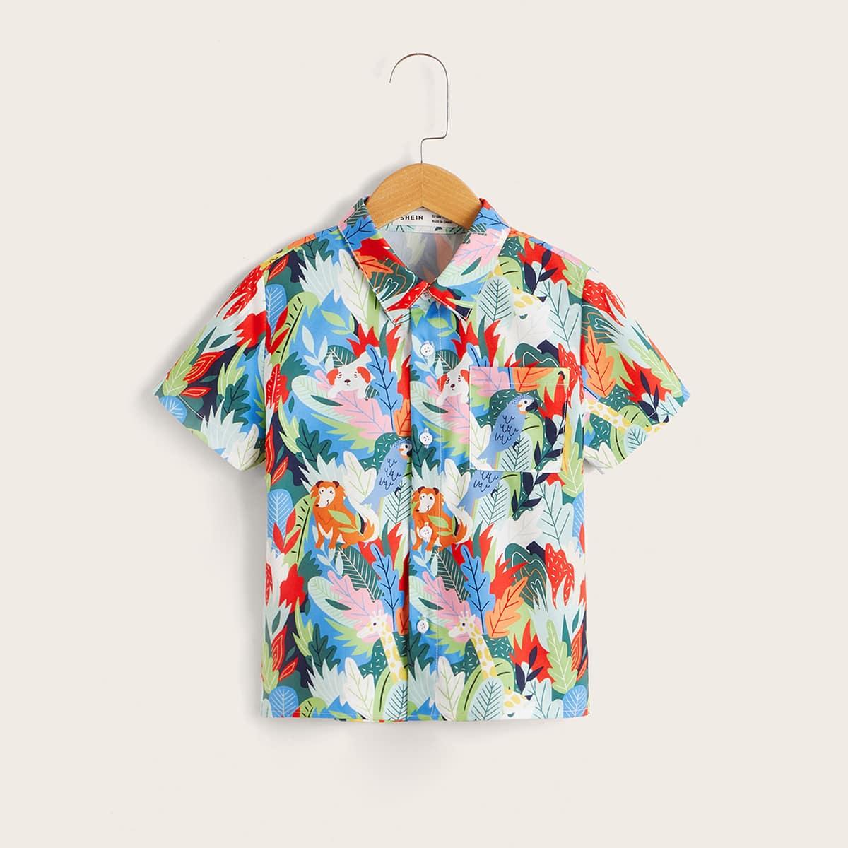 для мальчиков Рубашка с принтом