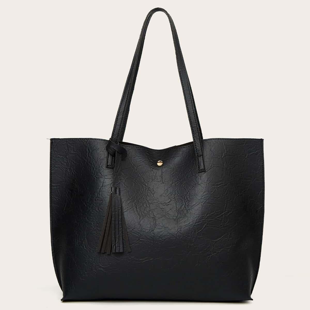 Minimalist Tassel Decor Tote Bag, SHEIN  - buy with discount