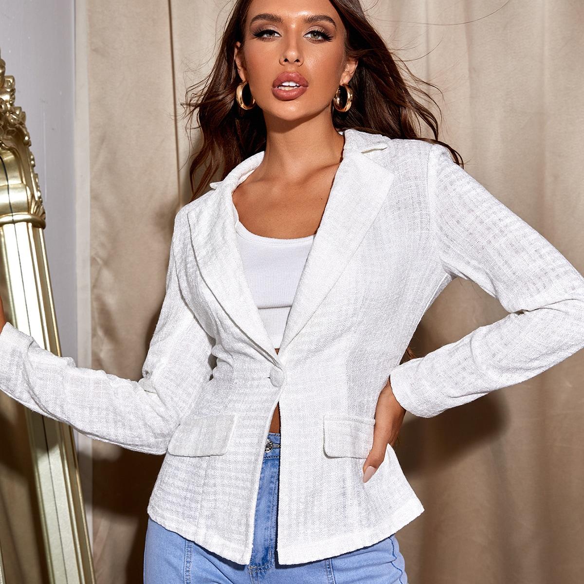 Пиджак с одной пуговицей с лацканами