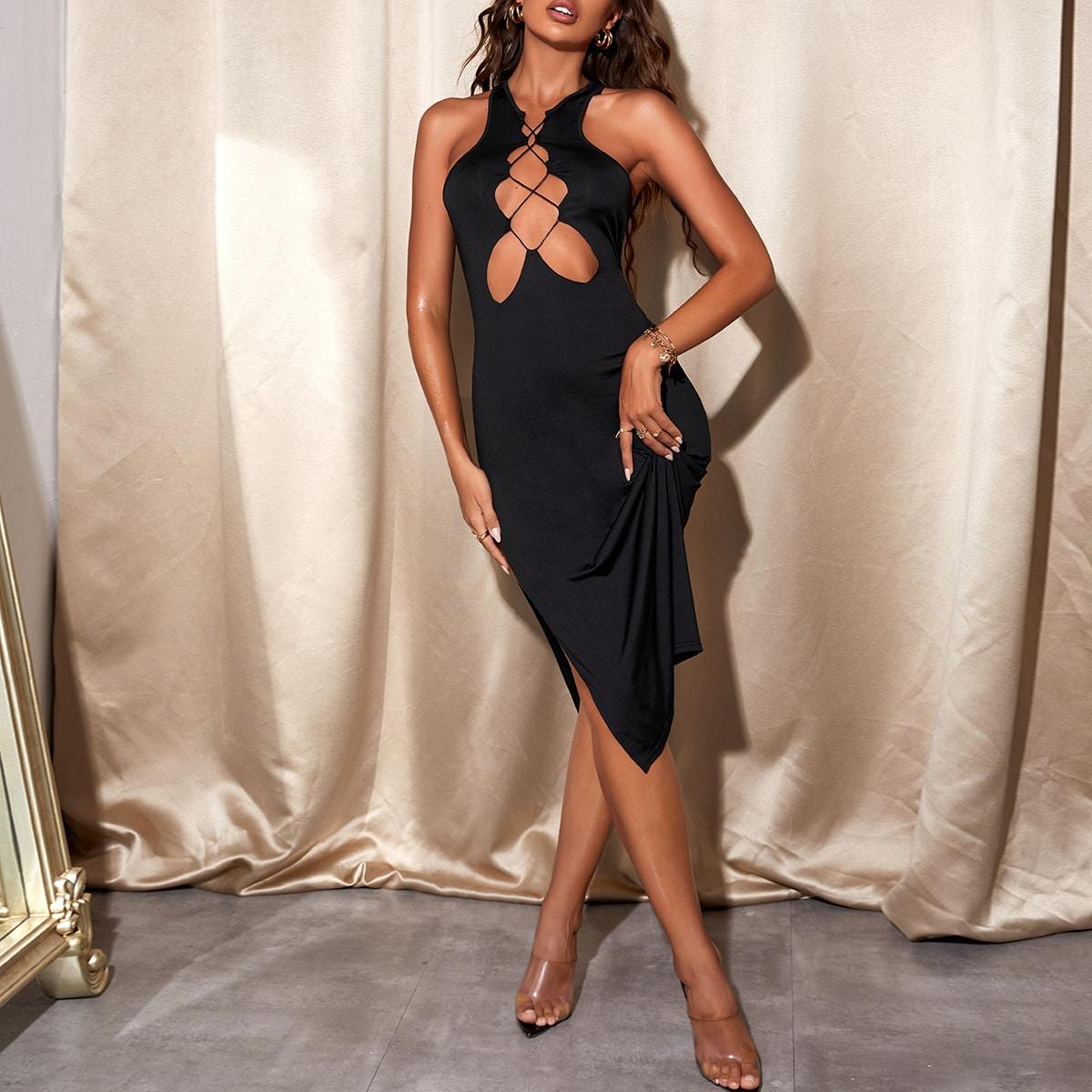 Платье с разрезом высоким разрезом SheIn sW210526253791929