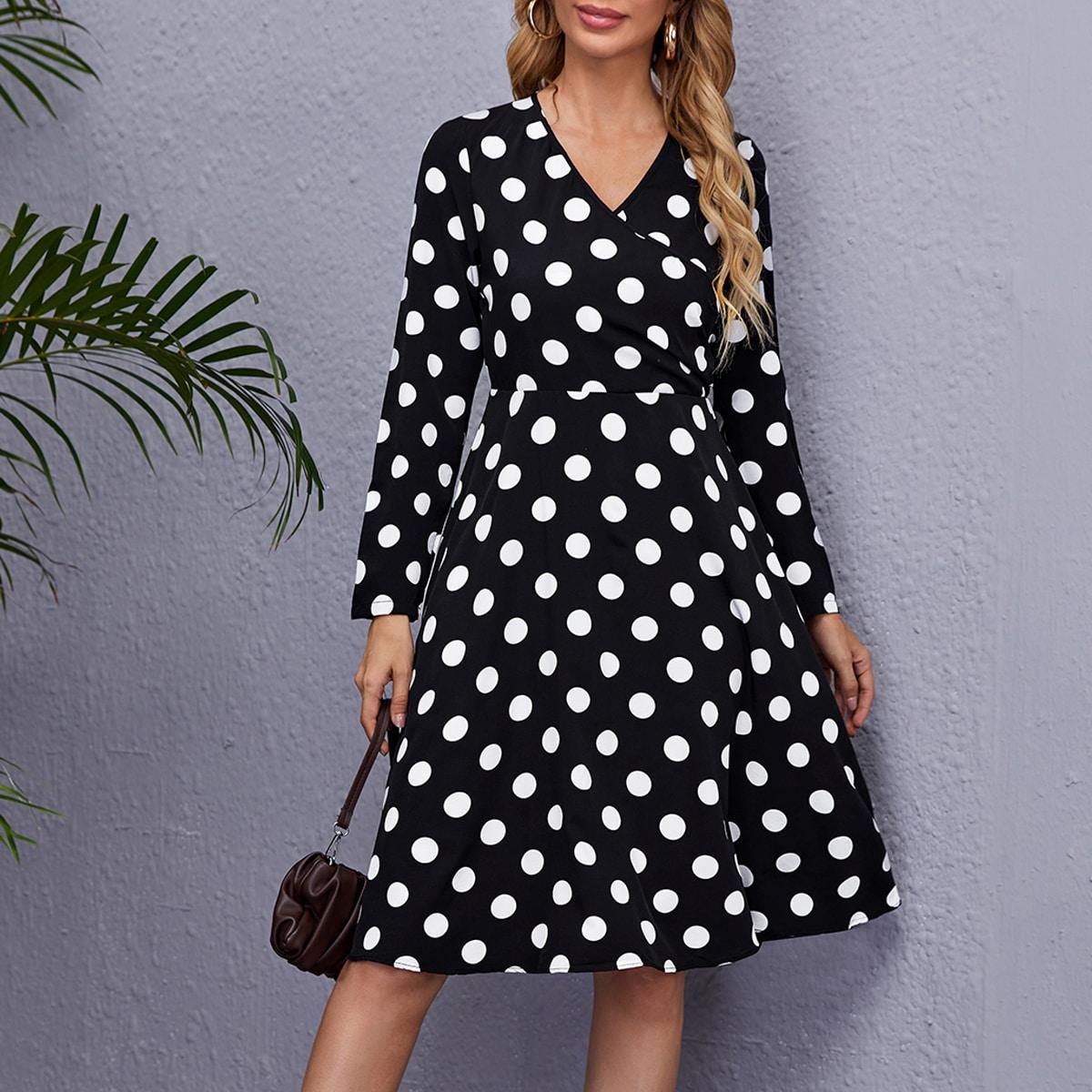 Платье в горошек SheIn swdress44210601093
