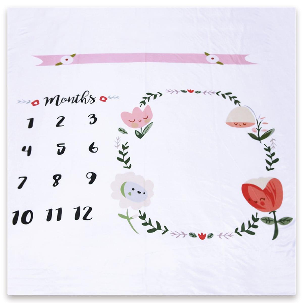 Одеяло с цветочным принтом для фотографий новорожденных