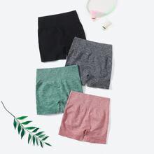 4pcs Breathable Scrunch Butt Sports Shorts