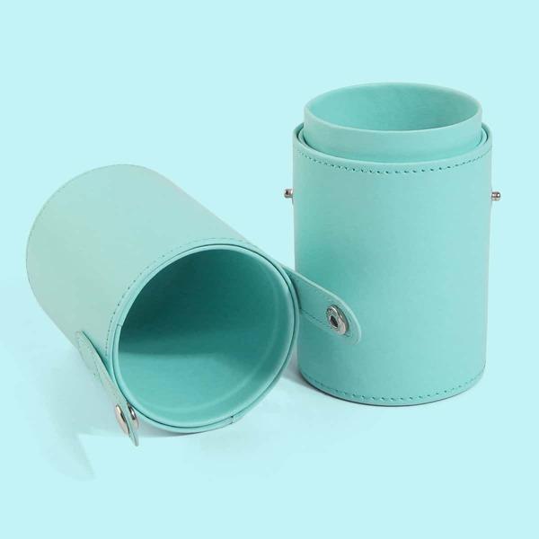 1pc Makeup Brush Storage Box, Blue