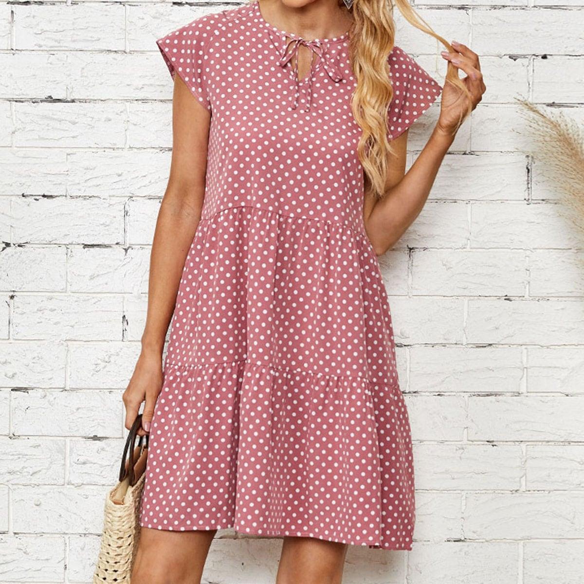 Платье в горошек SheIn swdress25210610158