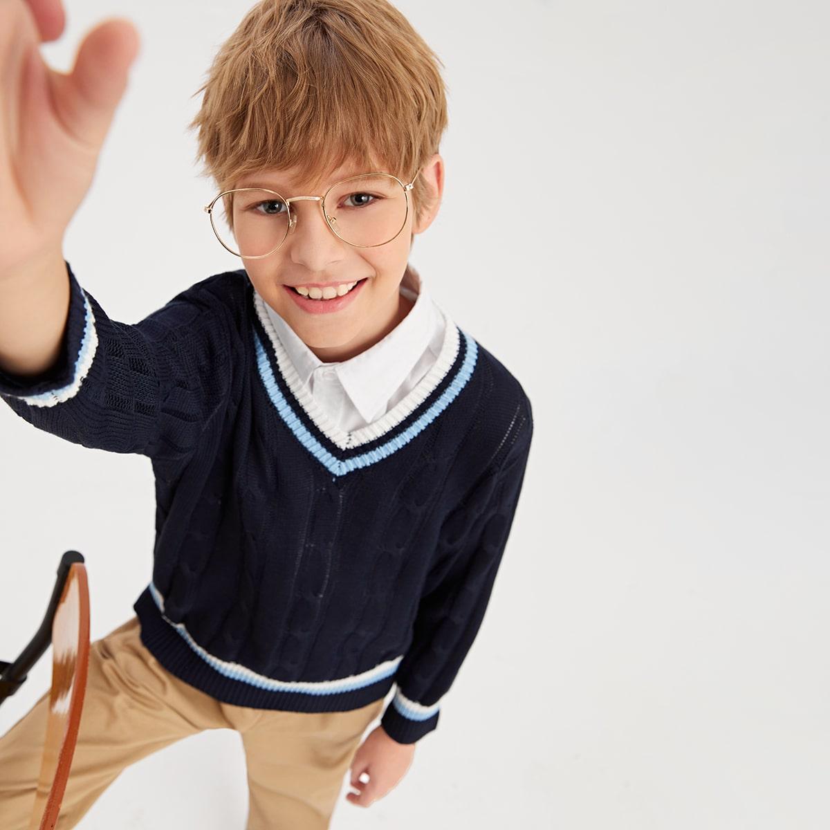 для мальчиков Свитер для крикета вязаный