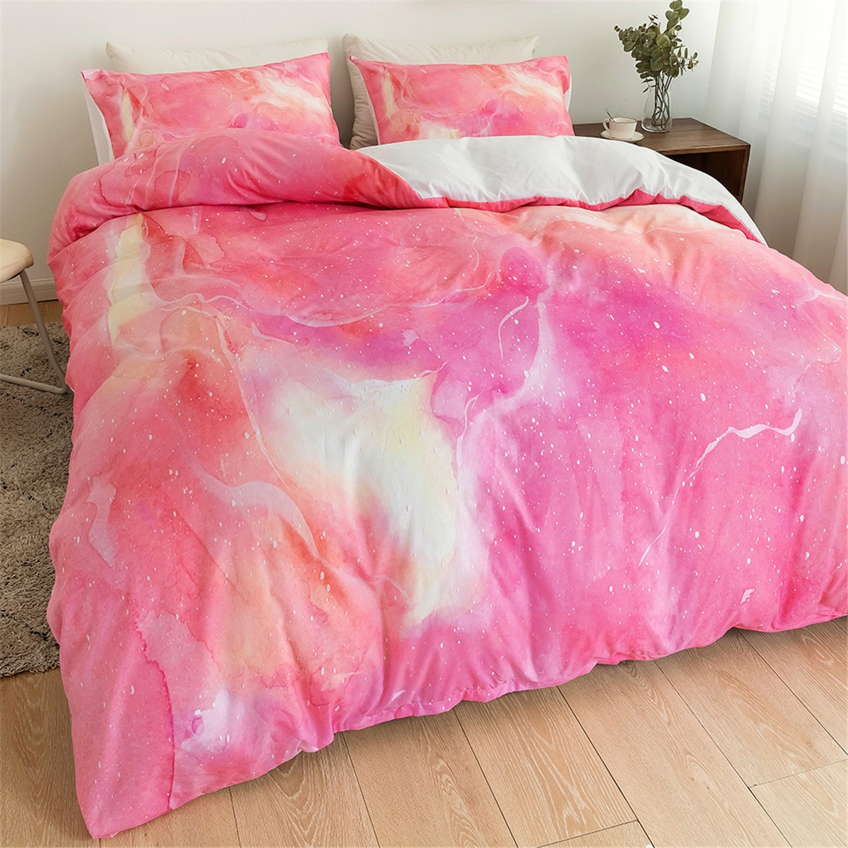 Kids Marble Pattern Duvet Cover Sets Without Filler, SHEIN  - buy with discount