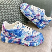 Art Print Wide Fit Sneakers