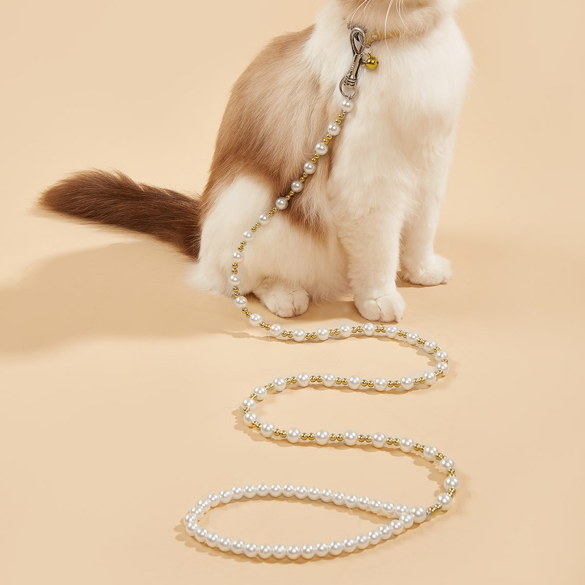 Pearl Beaded Pet Leash, SHEIN  - buy with discount