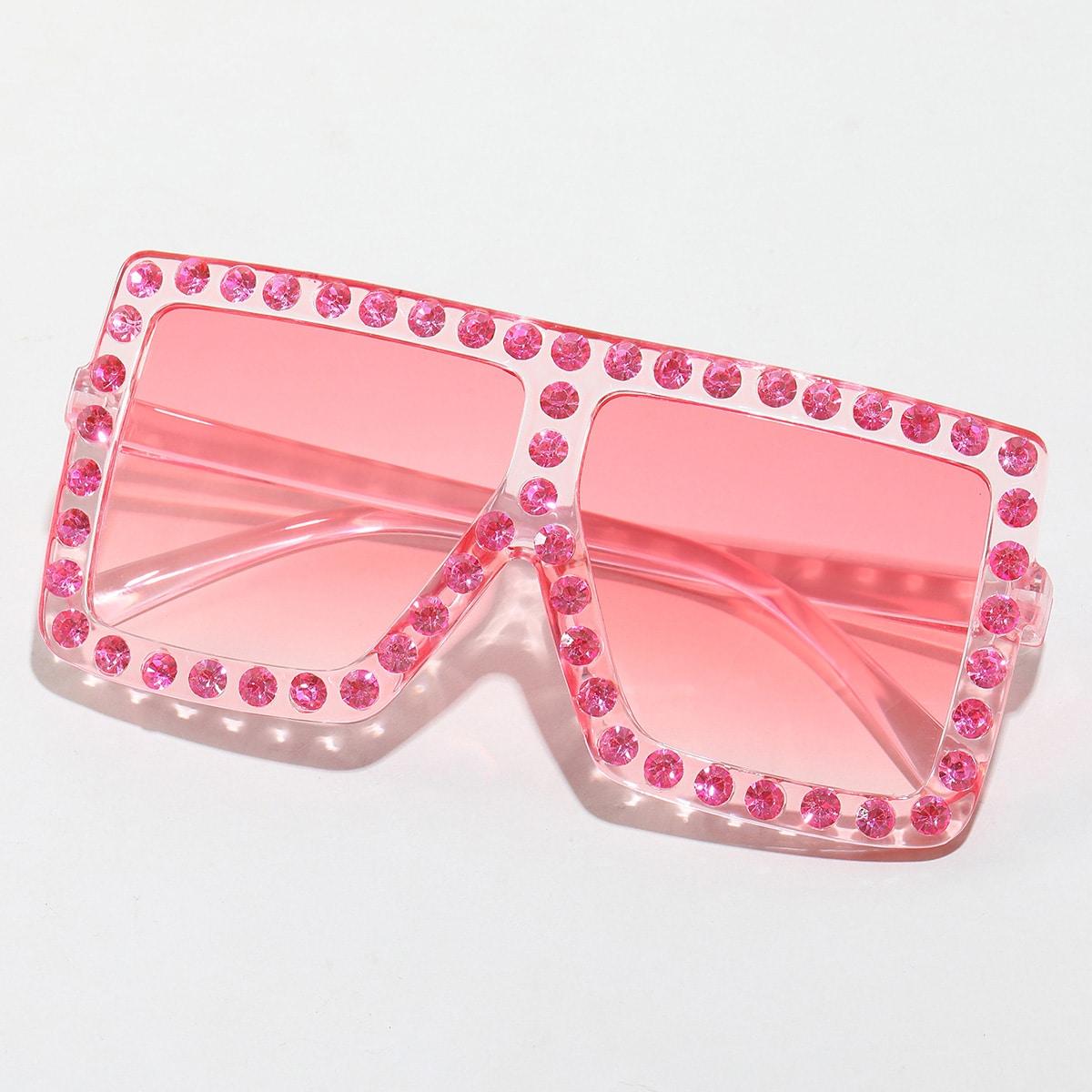Солнцезащитные очки со стразами для девочек
