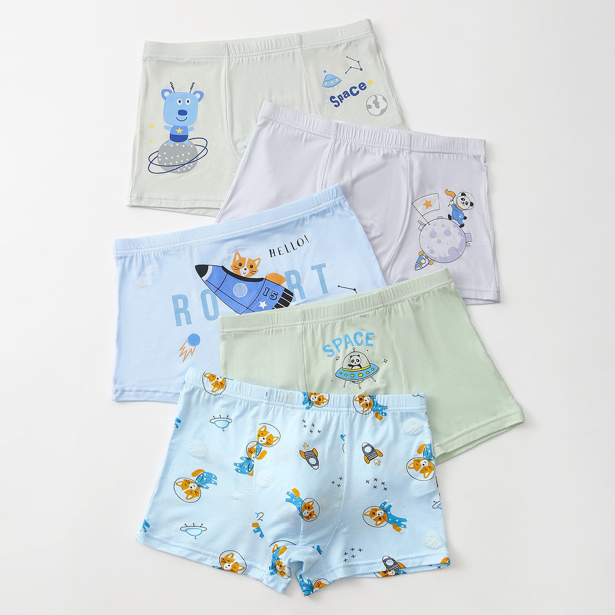 Toddler Boys Cartoon And Letter Graphic Boxer Brief, SHEIN  - buy with discount