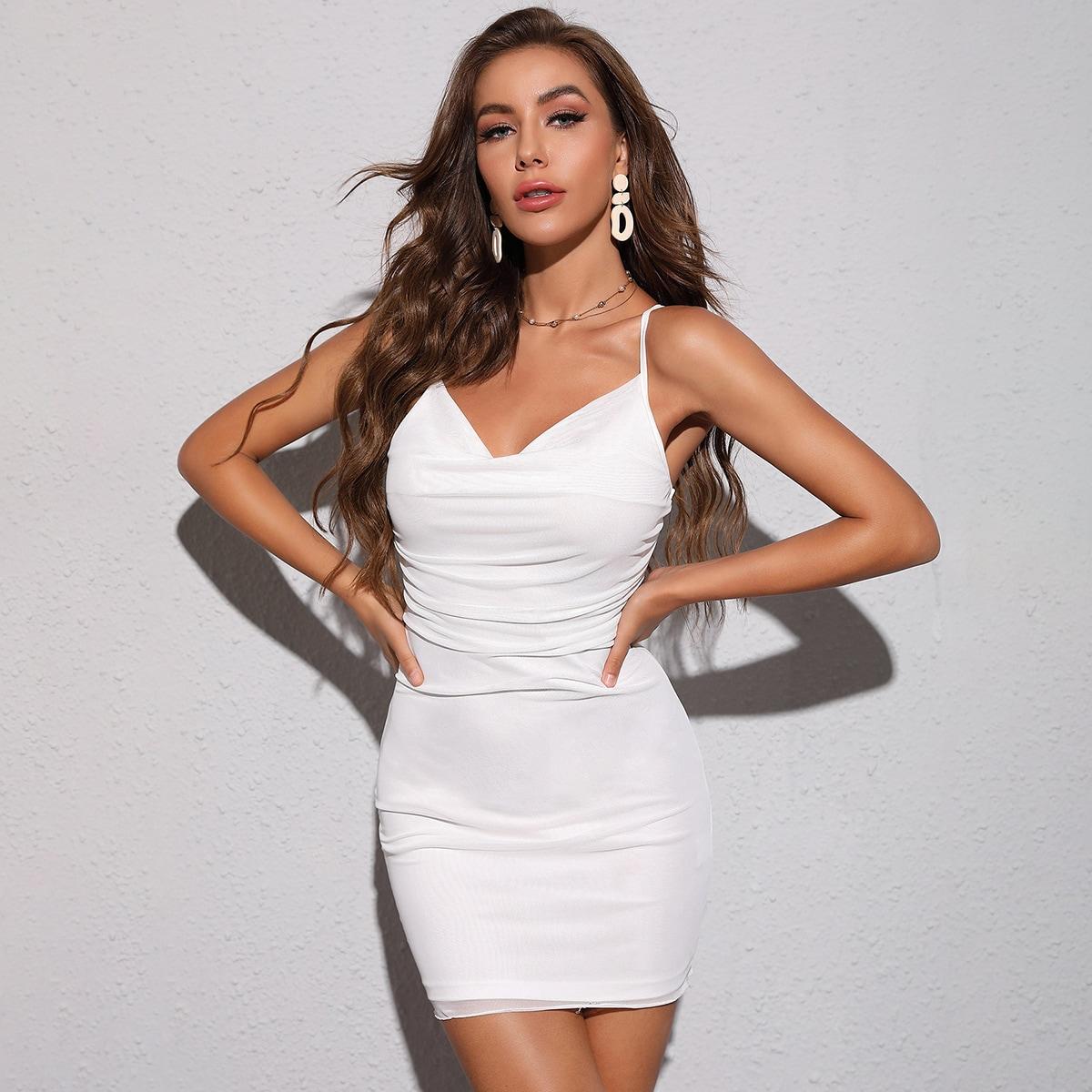 Платье на бретелях SheIn swdress07210609363