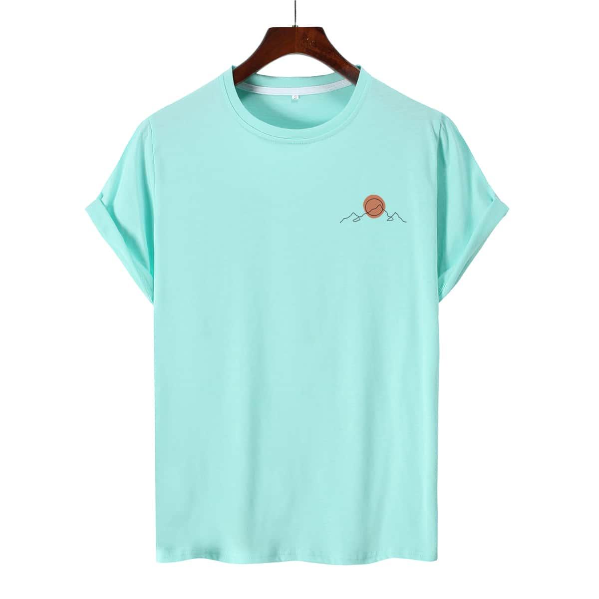Мужская футболка с графическим принтом