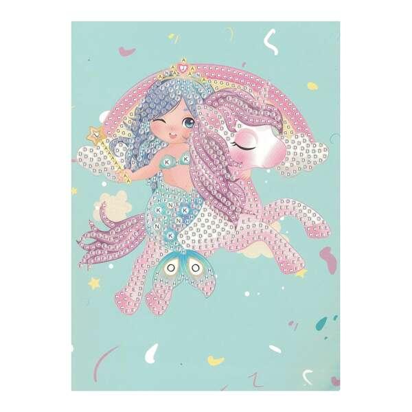 Mermaid DIY Diamond Sticker, Multicolor