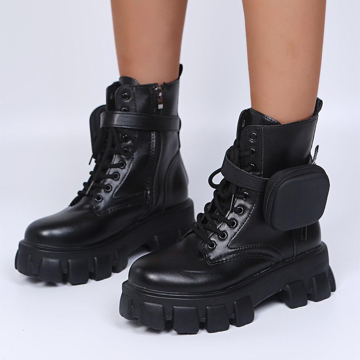 Минималистичные ботинки на шнурке