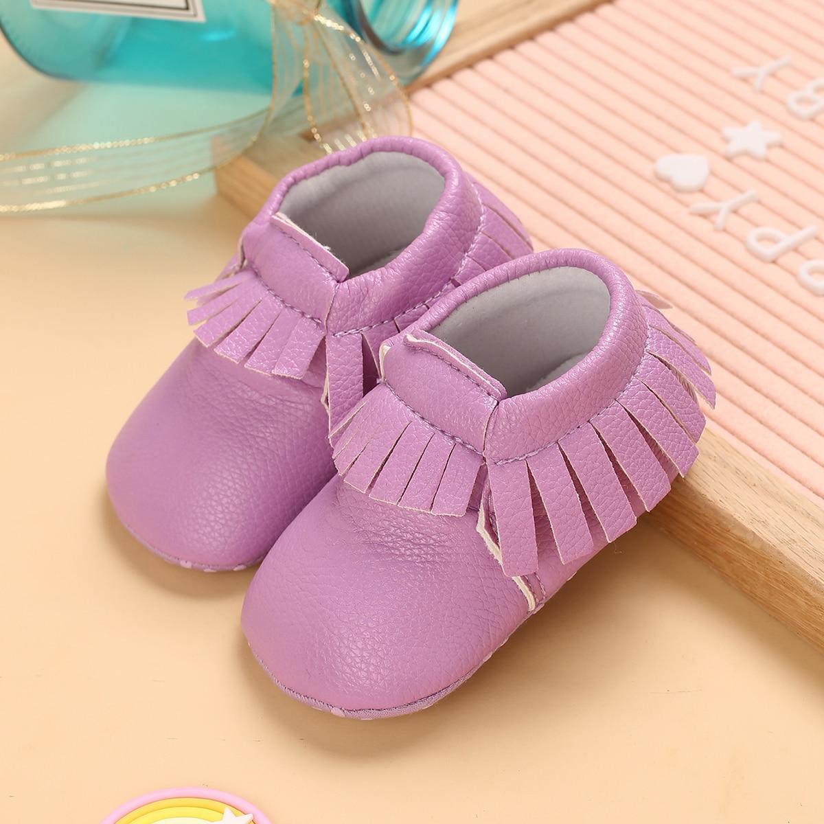 Минималистичные ботинки с бахромой для девочек