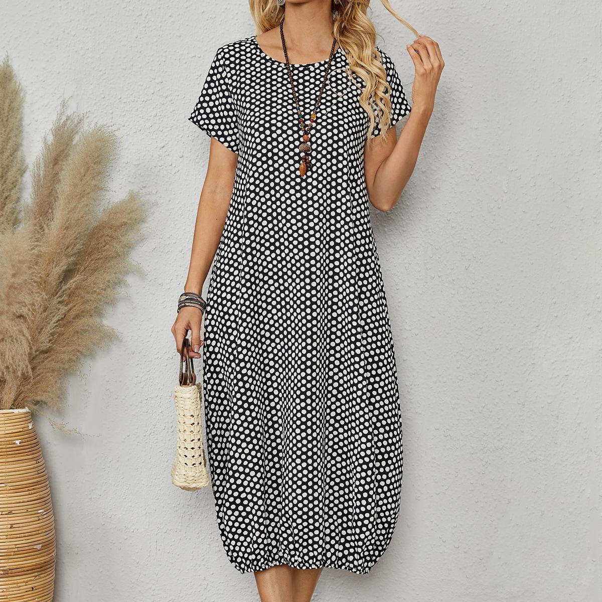Платье в горошек SheIn sW210617489825497