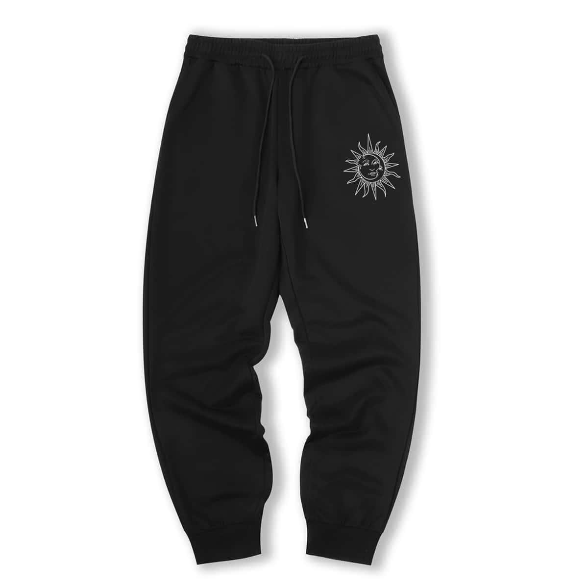 Guys Sun Print Sweatpants, SHEIN  - buy with discount