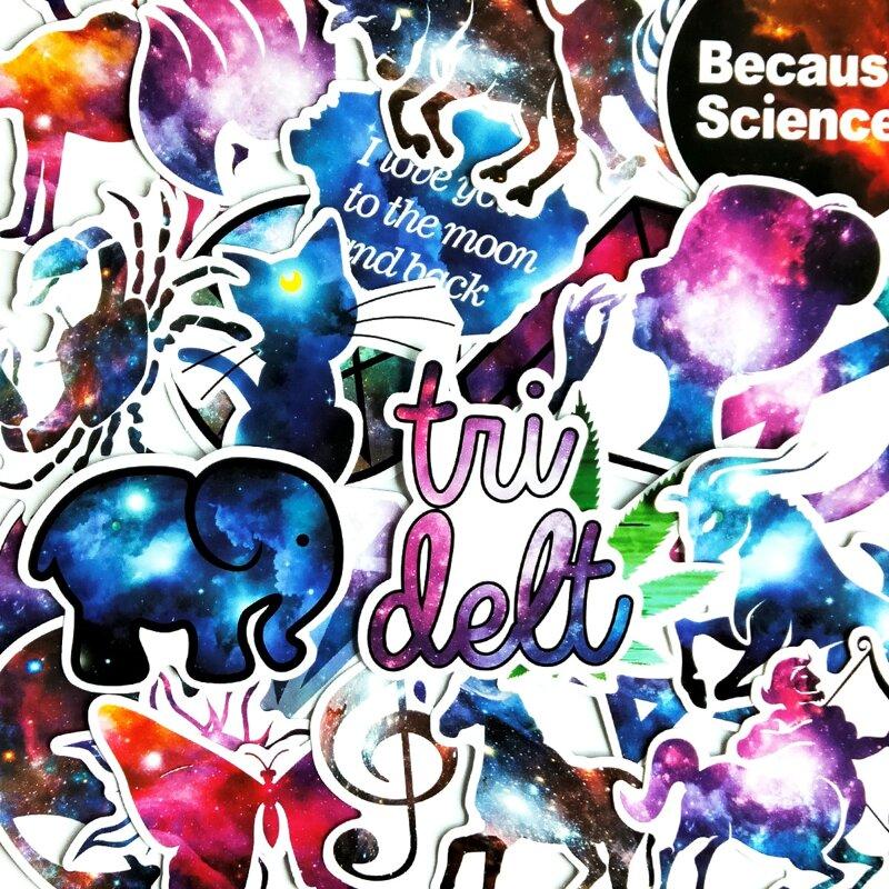 36pcs Galaxy Pattern Sticker, Multicolor