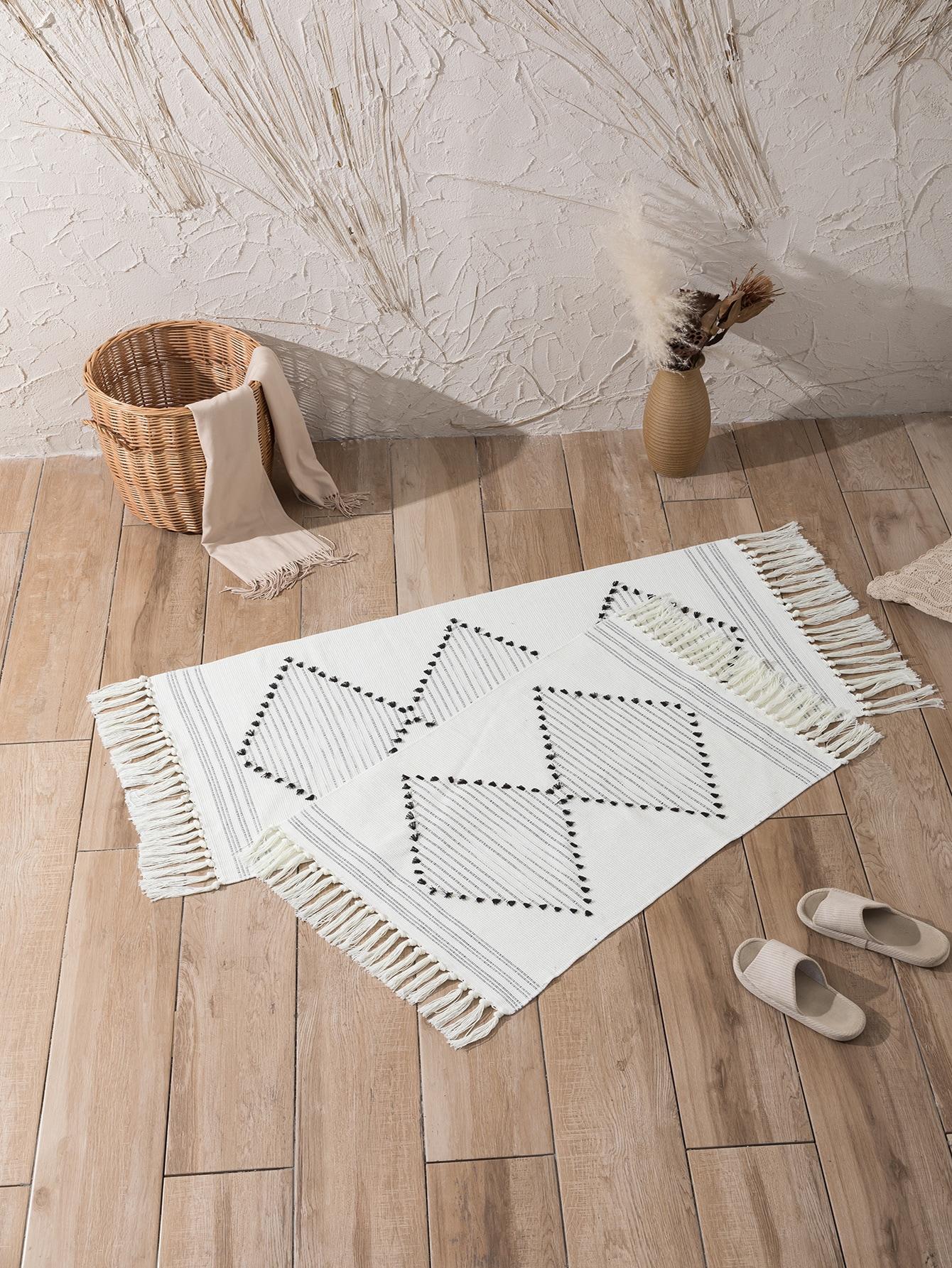 Tassel Trim Floor Carpet